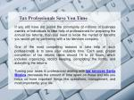 tax professionals save you time