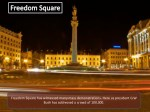 freedom square has witnessed many mass