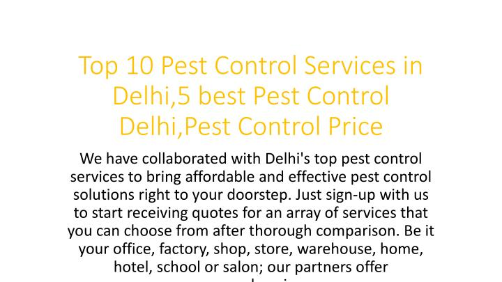 top 10 pest control services in delhi 5 best pest control delhi pest control price n.
