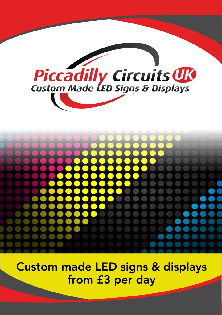 custom made led signs displays from 3 per day n.