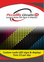 custom made led signs displays from 3 per day