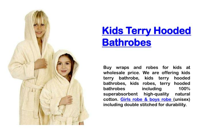 kids terry hooded bathrobes n.