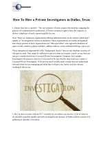 how to hire a private investigators in dallas