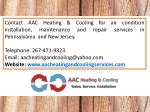 contact aac heating cooling for air condition