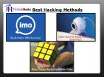 best hacking methods