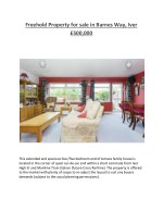 freehold property for sale in barnes way iver