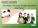 developer associate sample questions and demo