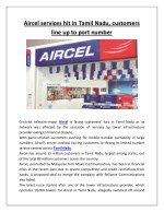 aircel services hit in tamil nadu customers line