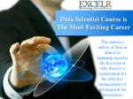 data scientist course is the most exciting career