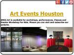 art events houston