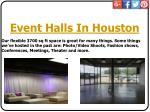 event halls in houston