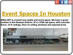event spaces in houston