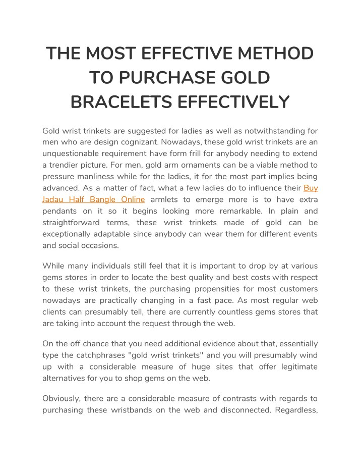 the most effective method to purchase gold n.