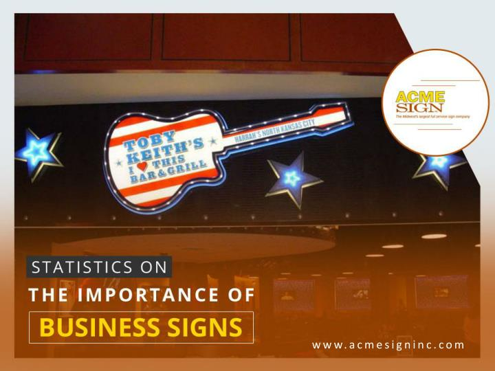 statistics on the importance of business signs n.
