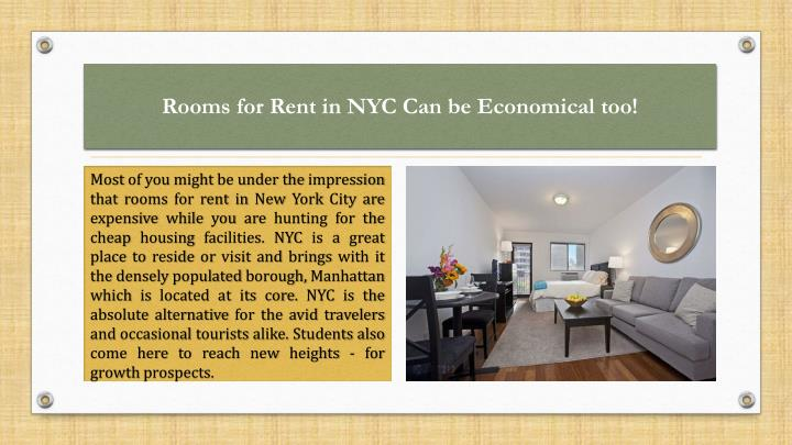 rooms for rent in nyc can be economical too n.