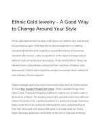 ethnic gold jewelry a good way to change around