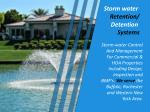 storm water retention detention systems