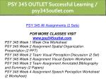 psy 345 outlet successful learning psy345outlet 1