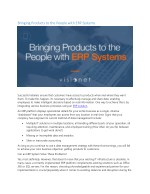 bringing products to the people with erp systems