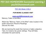psy 360 homework successful learning 16