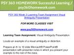 psy 360 homework successful learning 18