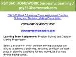 psy 360 homework successful learning 31