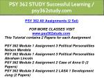 psy 362 study successful learning psy362study com 1