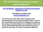 psy 362 study successful learning psy362study com 2