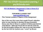 psy 362 study successful learning psy362study com 4