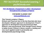 psy 362 study successful learning psy362study com 5