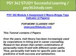 psy 362 study successful learning psy362study com 6