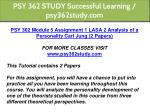 psy 362 study successful learning psy362study com 7