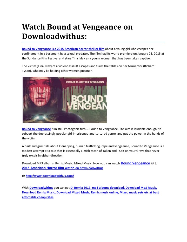 watch bound at vengeance on downloadwithus n.