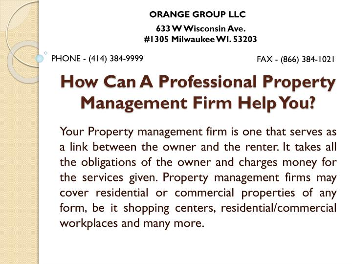 how can a professional property management firm help you n.