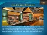 sonata s restaurant brings the food is life