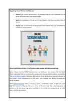 by getting scrum master certified you