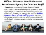 william almonte how to choose a recruitment agency for overseas staff 4