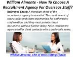 william almonte how to choose a recruitment agency for overseas staff 5