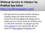 makeup service in udaipur by prabhat spa salon https prabhatspasalon com 5
