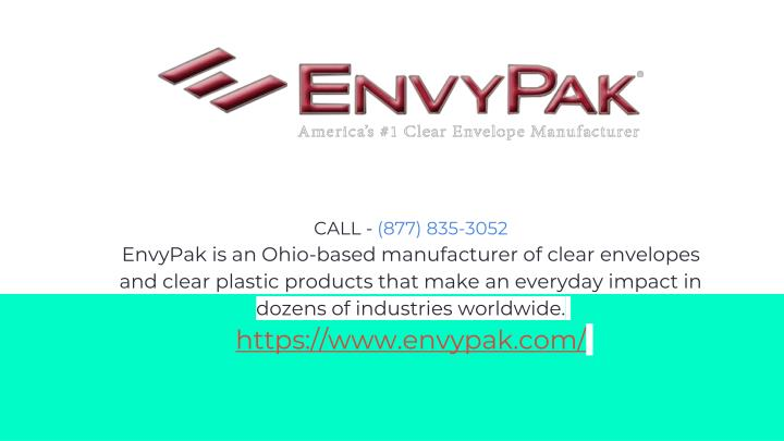 call 877 835 3052 envypak is an ohio based n.