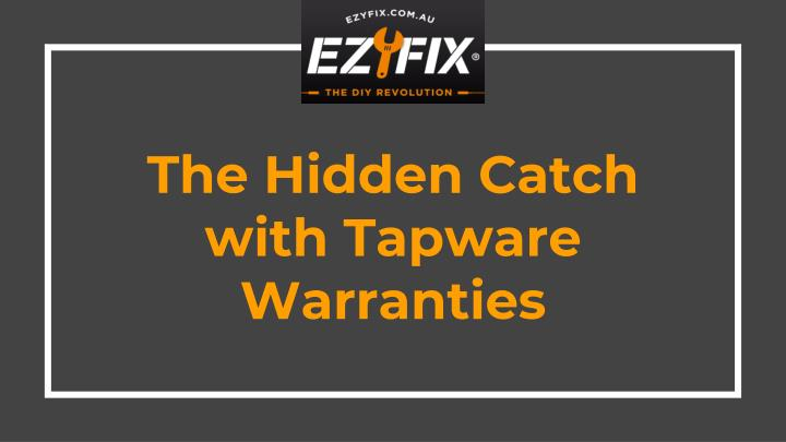 the hidden catch with tapware warranties n.