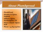 about plumbproud