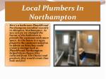local plumbers in northampton