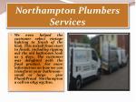 northampton plumbers services