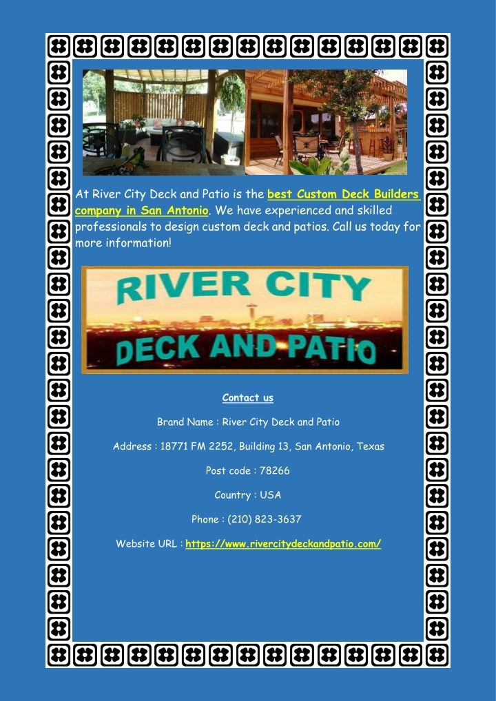 at river city deck and patio is the best custom n.