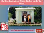 garden sheds absco sheds timber sheds easy sheds