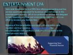 entertainment cpa