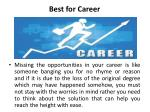 best for career