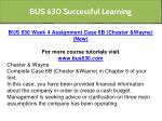 bus 630 successful learning 10