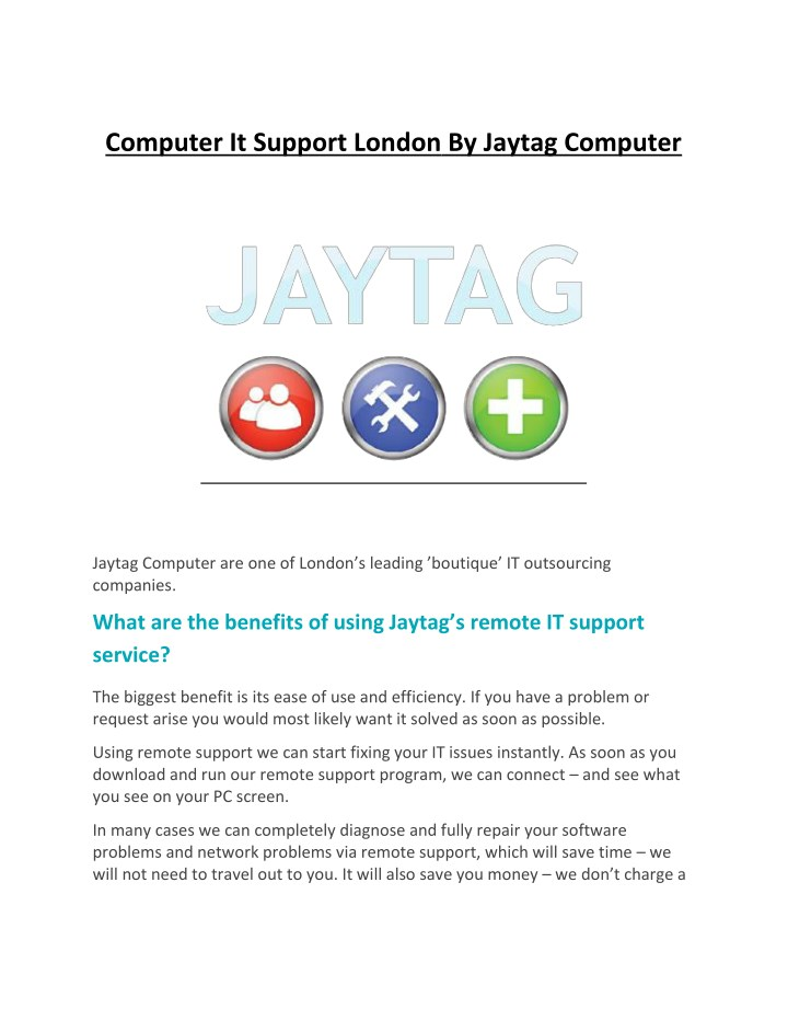 computer it support london by jaytag computer n.